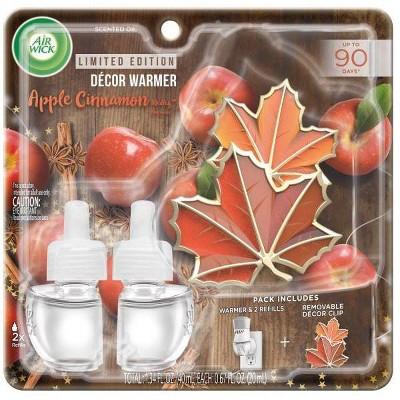 Air Wick Scented Oil - Fall Apple Cinnamon Medley Decor Warmer Kit
