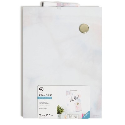 "U Brands 11""x15.5"" Frameless Dry Erase Board"