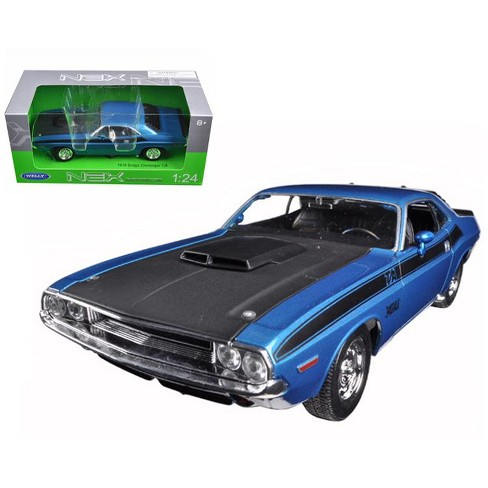 1970 Dodge Challenger Ta Blue 124 Diecast Model Car By Welly Target