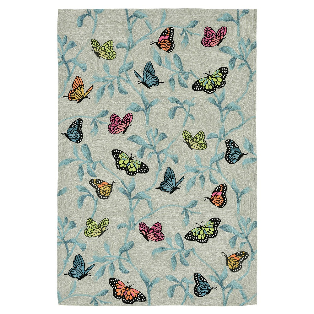 Green Butterfly Tufted Area Rug 5'X7'6 - Liora Manne
