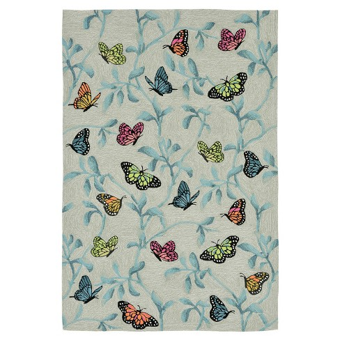 Ravella Butterflies On Trees Tufted Rug - image 1 of 4