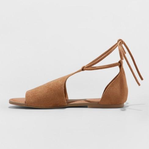 38ee6553463 Women s Aileen Lace Up Slide Sandals - Universal Thread™ Cognac 7.5   Target