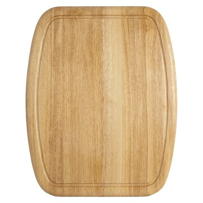 Architec 20 x 16 Inch Non-Slip Wood Cutting Board - Brown