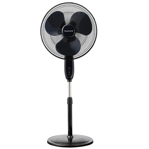 Honeywell Oscillating Stand Fan with Double Blades Black - image 1 of 4