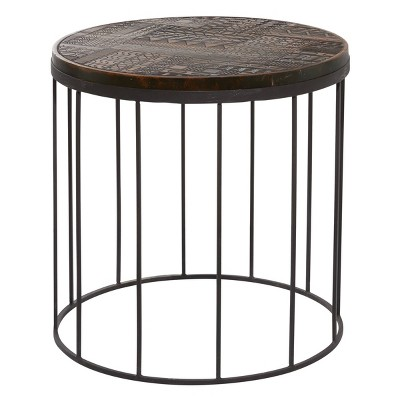 Contemporary Mango Wood Round Accent Table Brown - Venus Williams Collection