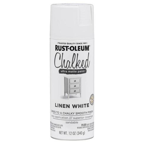 Rust-Oleum 12oz Chalked Linen Spray Paint White - image 1 of 3