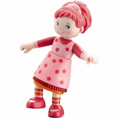 """HABA Little Friends Lilli - 4"""" Dollhouse Toy Figure with Pink Hair"""