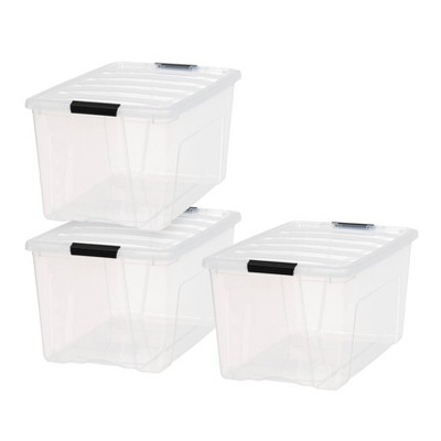 IRIS 3pk 72qt Stack & Pull Storage Box