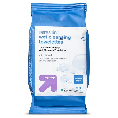 Makeup Remover Cleansing Towelettes - 30ct - Up&Up™ (Compare to Pond's Wet Cleansing Towelettes) - image 1 of 1