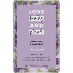 Love Beauty & Planet Argan Oil & Lavender Relaxing Bar Soap - 7oz