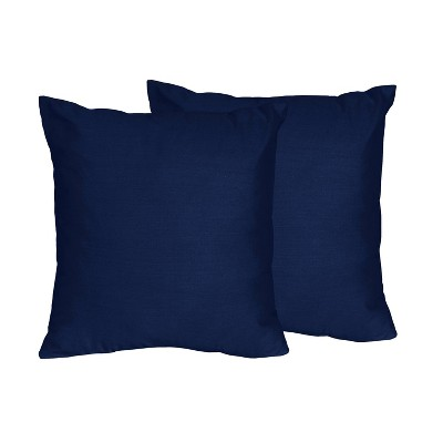 Navy Throw Pillow - Sweet Jojo Designs