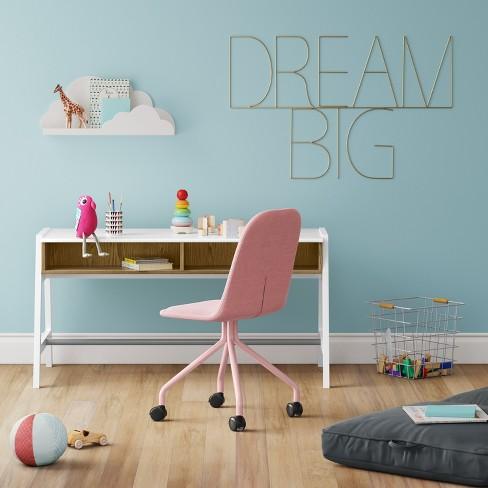 Kids Rolling Desk Chair Pink - Pillowfort™