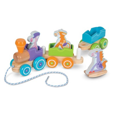 Melissa & Doug First Play Rocking Farm Animals Pull Train