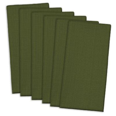 Set of 6 Variegated Nautical Napkins Green - Design Imports