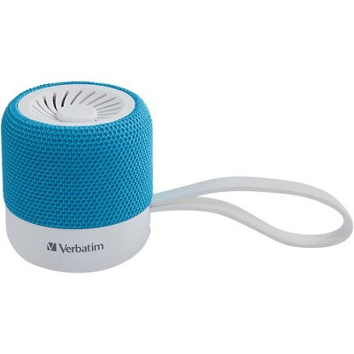 Verbatim Portable Bluetooth Speaker System - Teal - 100 Hz to 20 kHz - TrueWireless Stereo - Battery Rechargeable