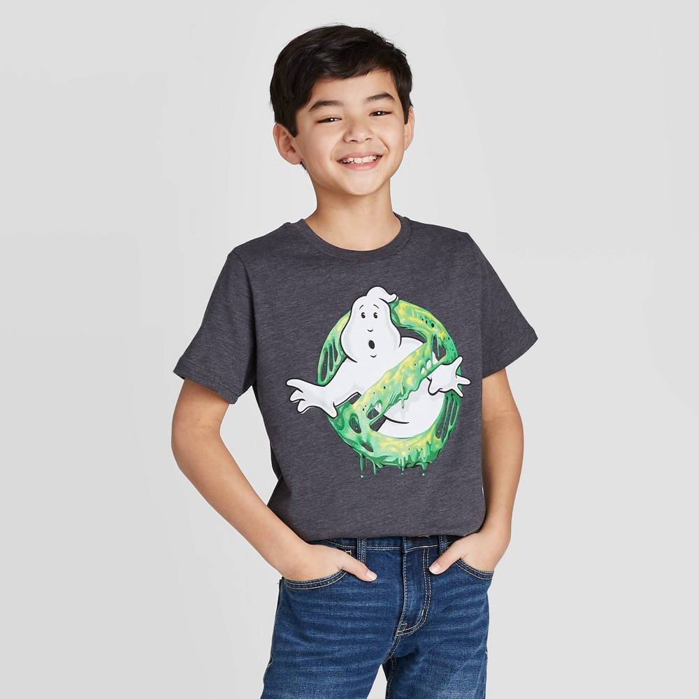 Boys Short Sleeve Ghostbusters Graphic T-Shirt - Gray M Coupons