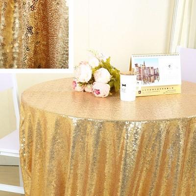 PiccoCasa Sparkle for Wedding Party Decor 3mm Round Sequins Tablecloths 1 Pc