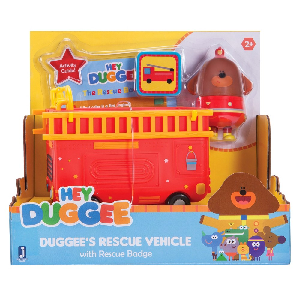 Hey Duggee Rescue Vehicle with Fireman Duggee