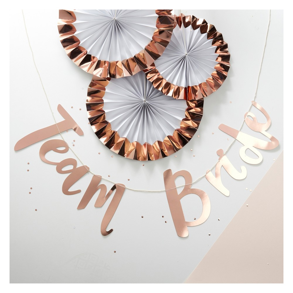 Ginger Ray Rose Gold Hen Party Bunting Backdrop Team Bride