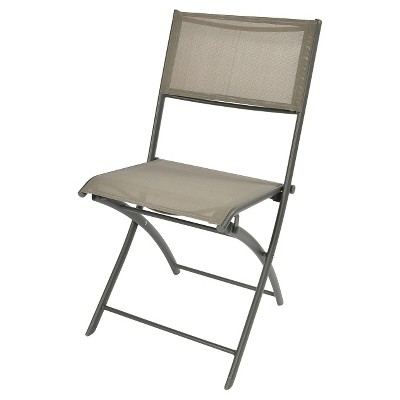 Sling Folding Patio Bistro Chair - Gray - Threshold™