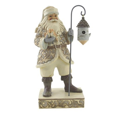 "Jim Shore 10.0"" Sweet Holiday Home Santa Woodland Birdhouse  -  Decorative Figurines"