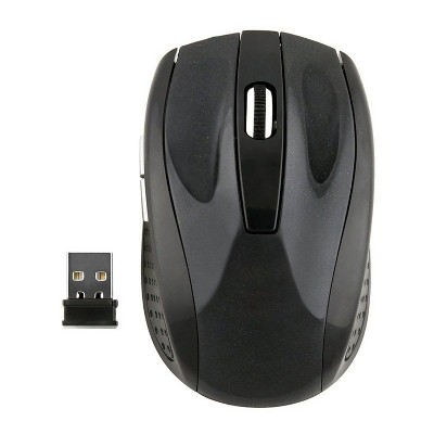 Insten USB 2.4G Wireless Mouse with 5 Buttons Compatible with Laptop, PC, Computer, MacBook Pro/Air & Gaming, Black