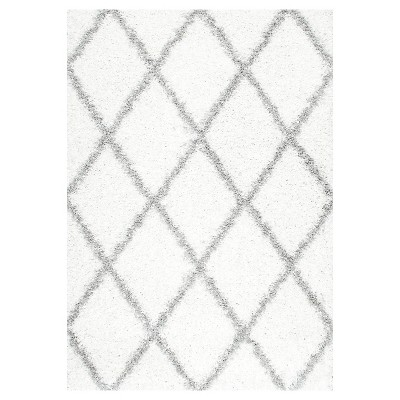 White Solid Loomed Area Rug - (6'7 x9')- nuLOOM