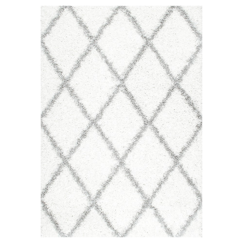 White Solid Loomed Area Rug - (8'x10') - nuLOOM