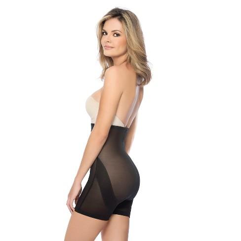 a0eacfde3a Annette Women s Faja Extra Firm Control Latex High Waist Mid-Thigh Shaper -  Black XXL   Target