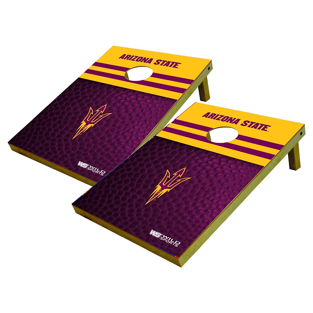 Arizona State Sun Devils Wild Sports Platinum Shield Cornhole Bag Toss Set - 2x3 ft.
