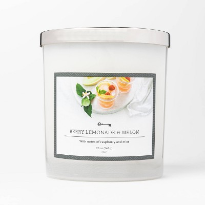 20oz Jar 3-Wick Berry Lemonade and Melon Candle - Threshold™