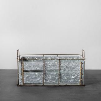 Galvanized Metal Storage Bin Medium - Hearth & Hand™ with Magnolia