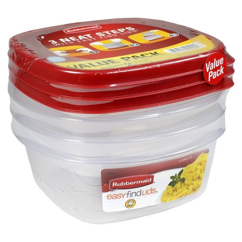 Rubbermaid 6pc 5 Cup Food Storage Container With Easy Find Lid Target