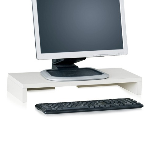 Eco Friendly Computer Monitor Stand Riser, White - Lifetime Guarantee - image 1 of 6