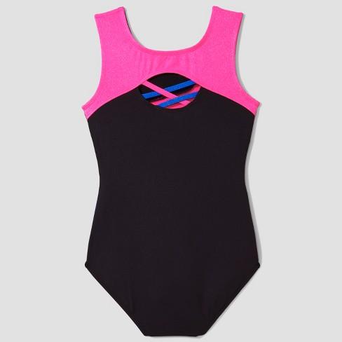 3e8b7061f8f6 Freestyle® By Danskin® Girls  Activewear Leotard - Black Pink Blue ...