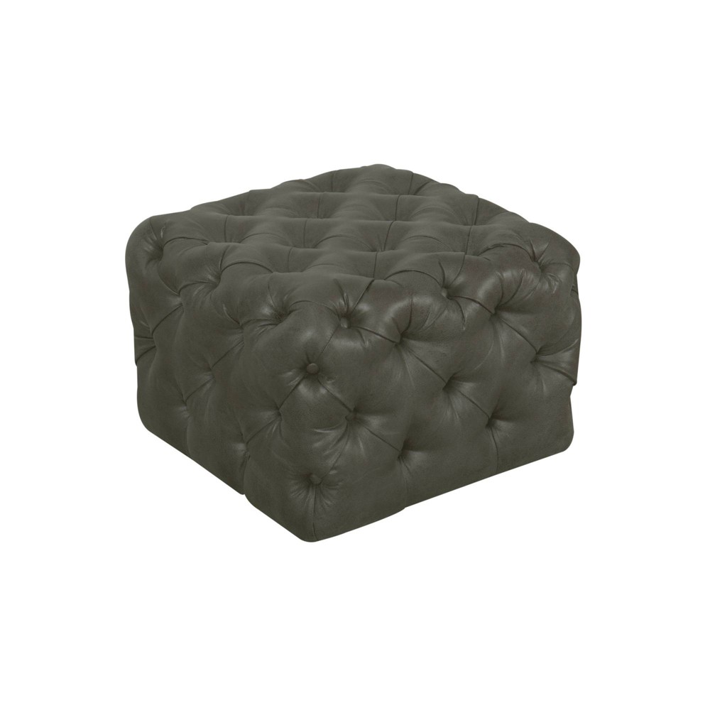 Small Square All Over Tufted Ottoman Gray - Homepop was $169.99 now $127.49 (25.0% off)