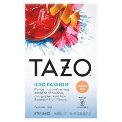Tazo Iced Passion Herbal Tea - 6ct