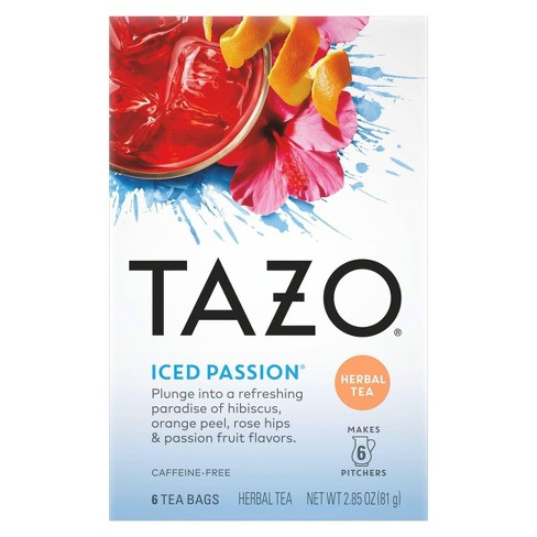 Tazo Iced Passion Herbal Tea - 6ct - image 1 of 4
