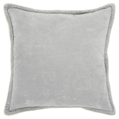 Connie Post Solid Poly Filled Square Pillow Light Gray - Rizzy Home