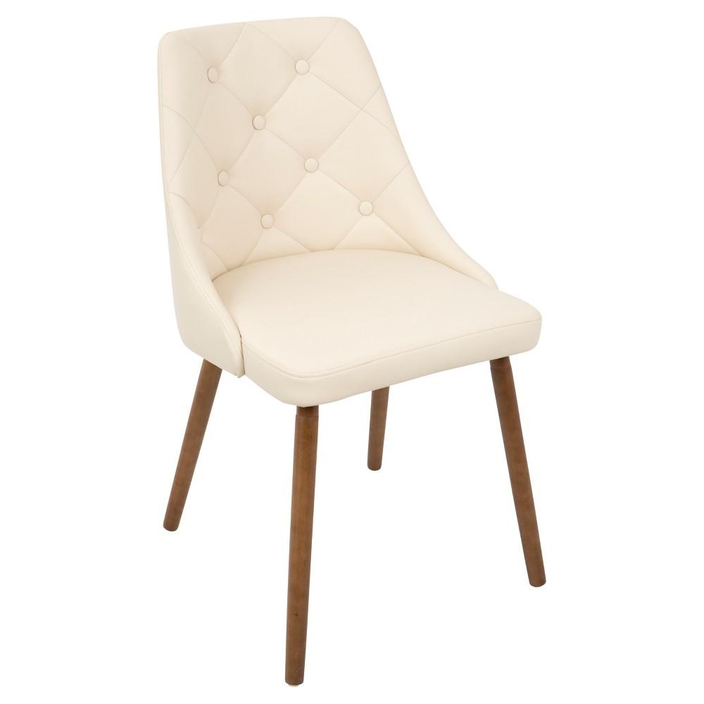 Giovanni Mid Century Modern Dining Chair - Cream (Ivory) - Lumisource