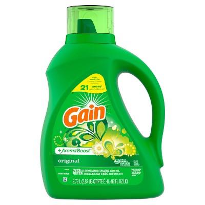 Gain Original + Aroma Boost Liquid Laundry Detergent