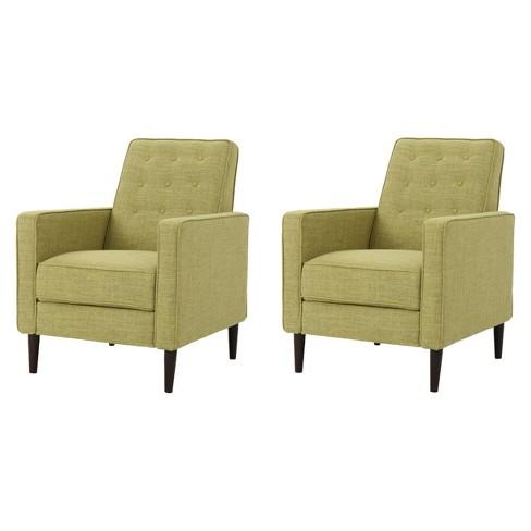 Marvelous Mervynn Mid Century Recliner Muted Green Set Of 2 Christopher Knight Home Short Links Chair Design For Home Short Linksinfo