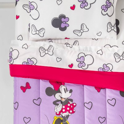 Mickey Mouse & Friends Minnie Mouse Full Bedding Set Purple