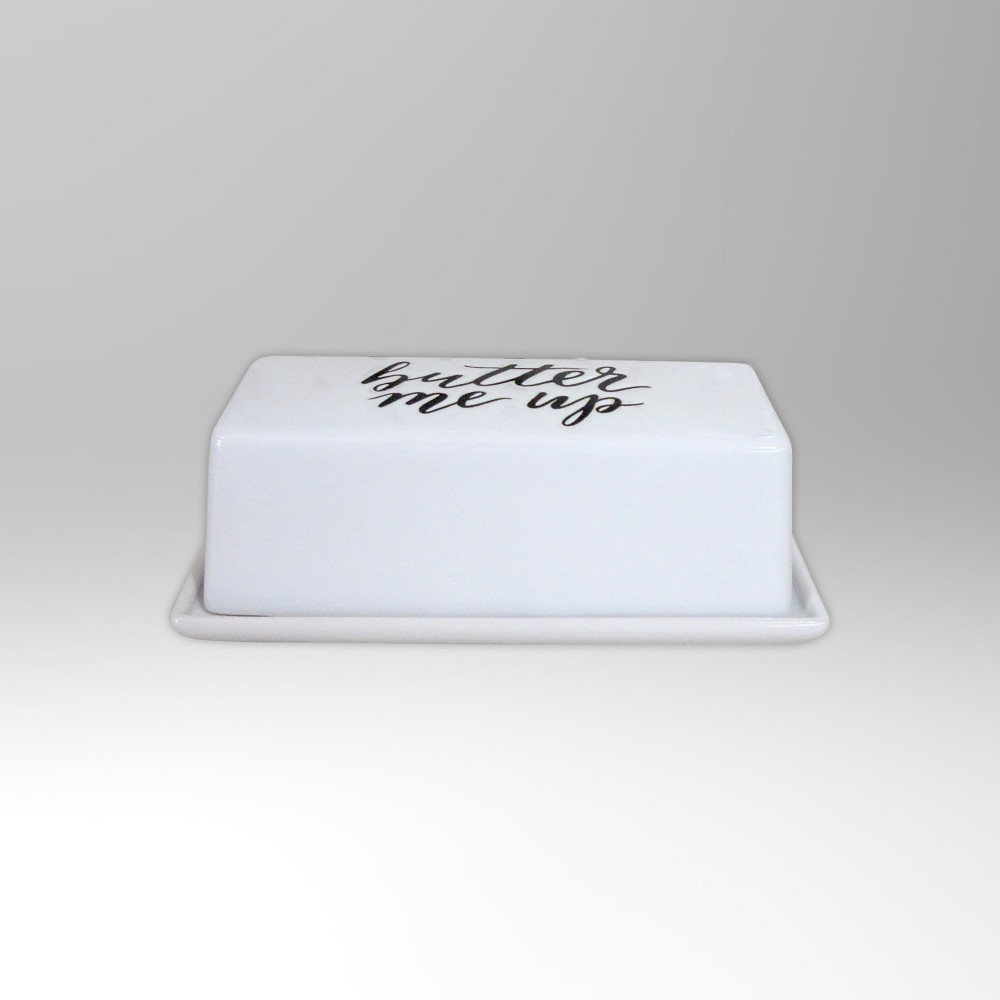 Butter Dish White - Threshold