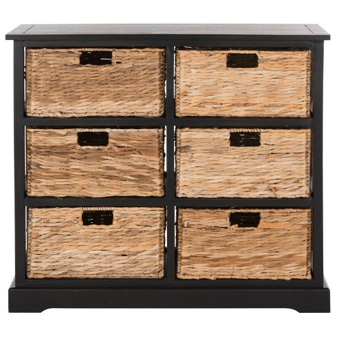 Keenan 6 Wicker Basket Storage Chest - Safavieh - image 1 of 4