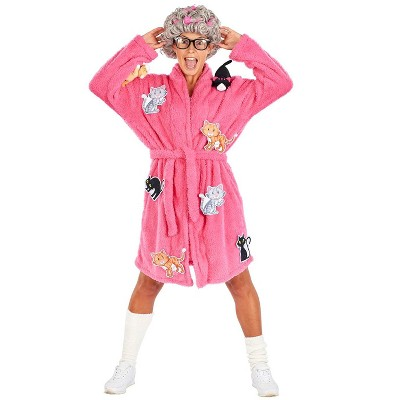 Orion Costumes Crazy Cat Lady Adult Costume | Robe & Wig Funny Costume Set | One Size Fits Most