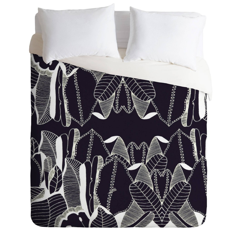 King Cayenablanca Duo Tone Comforter Set Black Deny Designs