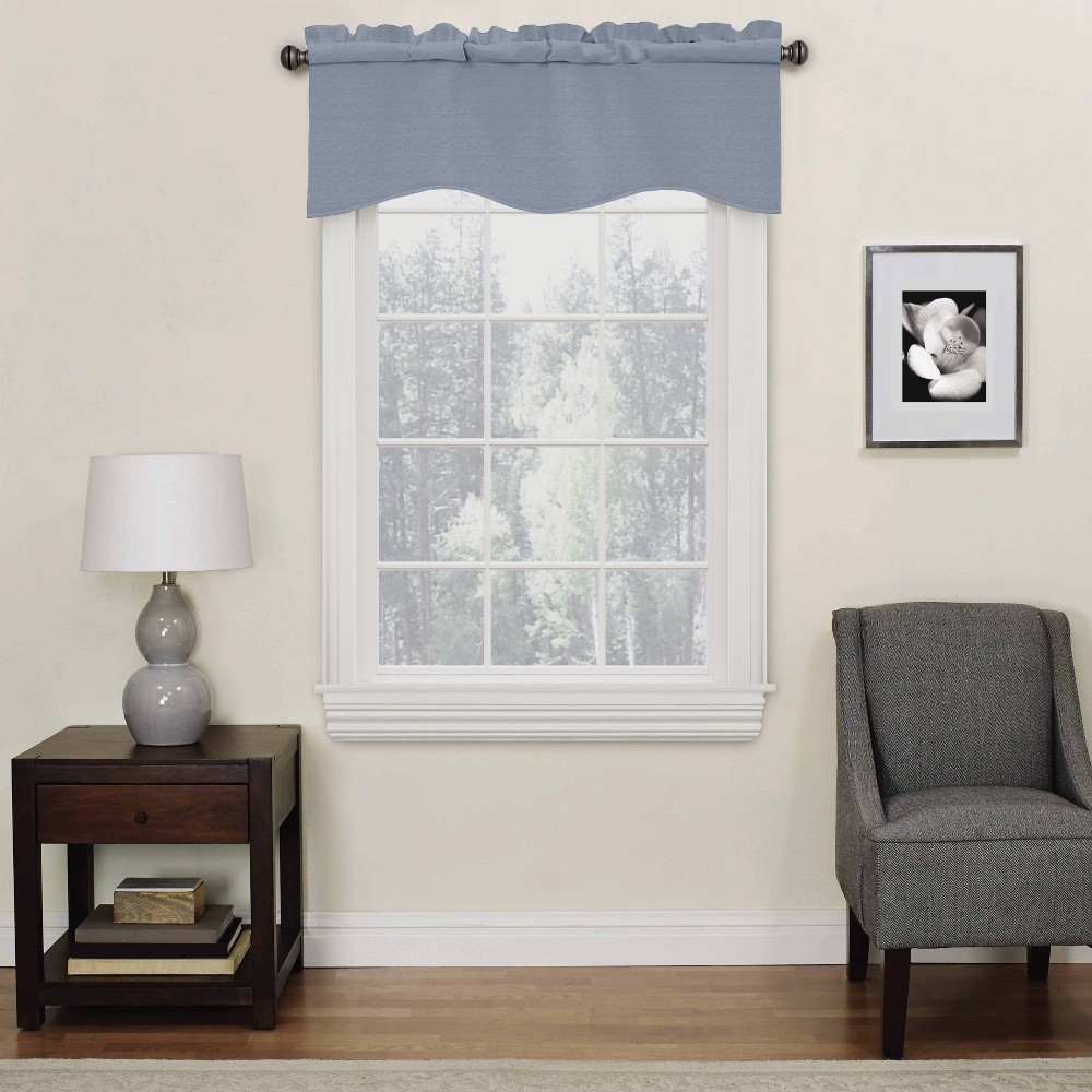 Image of 42x18 - Kendall Thermaback Blackout Valance Slate (Grey) - Eclipse