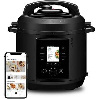 CHEF iQ 6qt Multi-Function Smart Pressure Cooker with Built-in Scale, Pairs With App Via WiFi - Black