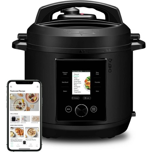 CHEF iQ 6qt Multi-Function Smart Pressure Cooker with Built-in Scale, Pairs With App Via WiFi - Black - image 1 of 4